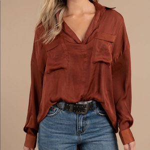 Free people copper starry dreams blouse